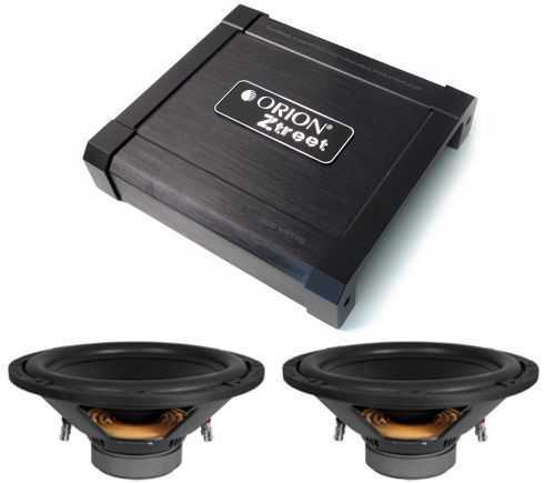 Orion BLOWOUT - ZO1500-2 amplifier Plus ZTW124d - 2 subwoofers